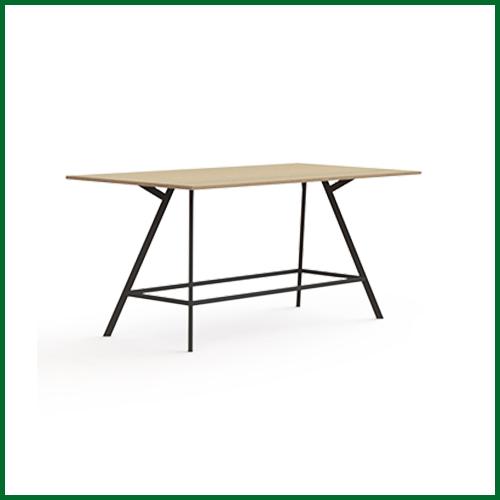 bridge hoge tafel recht 240x120cm met rechthoekige poten - abr